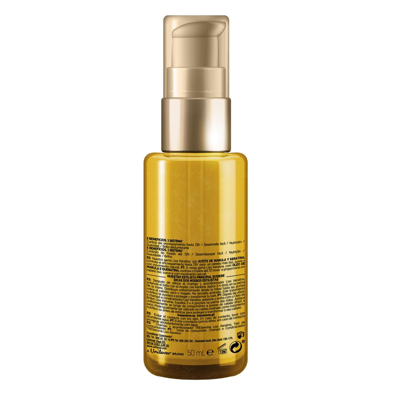 Aceite Liso Keratina con aceite de Marula Tresemmé 50 ml. -