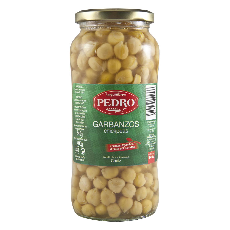 Garbanzo cocido categoría extra Pedro Luis 400 g.