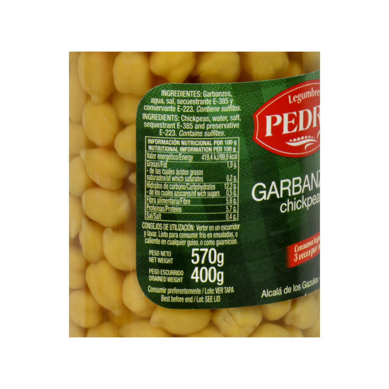 Garbanzo cocido categoría extra Pedro Luis 400 g. -