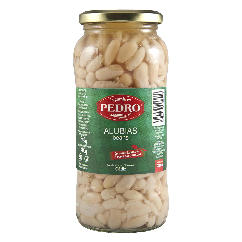 Alubia cocida categoría extra Pedro Luis 400 g.