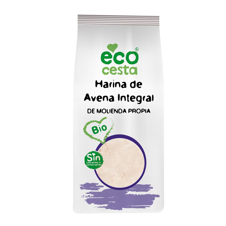 Harina de avena ecológica Ecocesta integral 500 g.