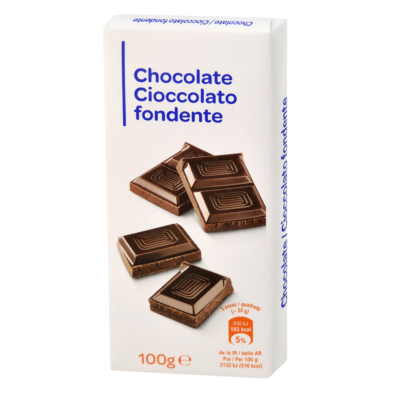 Chocolate puro para fundir Producto blanco 100 g.