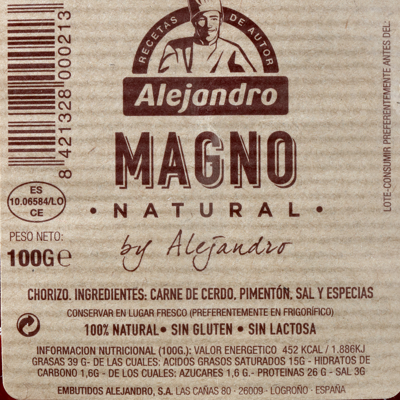 Chorizo troncal magno loncheado Embutidos Alejandro 100 g - 3