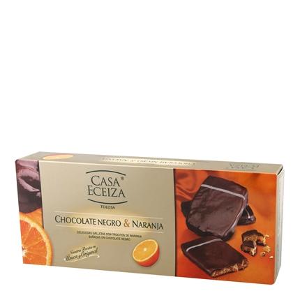 Galletas de chocolate negro y naranja Casa Eceiza 100 g.