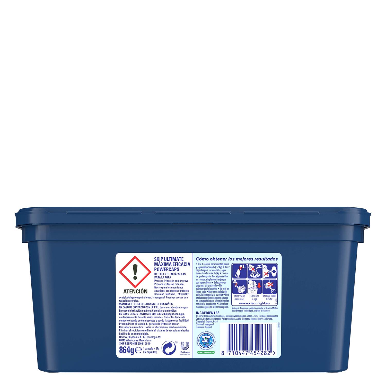 Detergente cápsulas Ultimate doble acción Máxima eficacia -