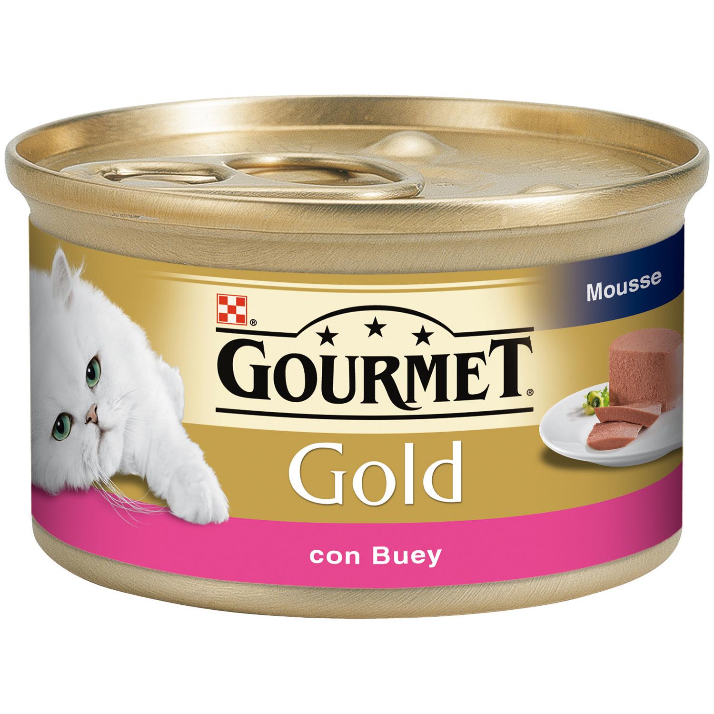 Purina Gourmet Gold Comida Húmeda para Gato Mousse Buey 85g