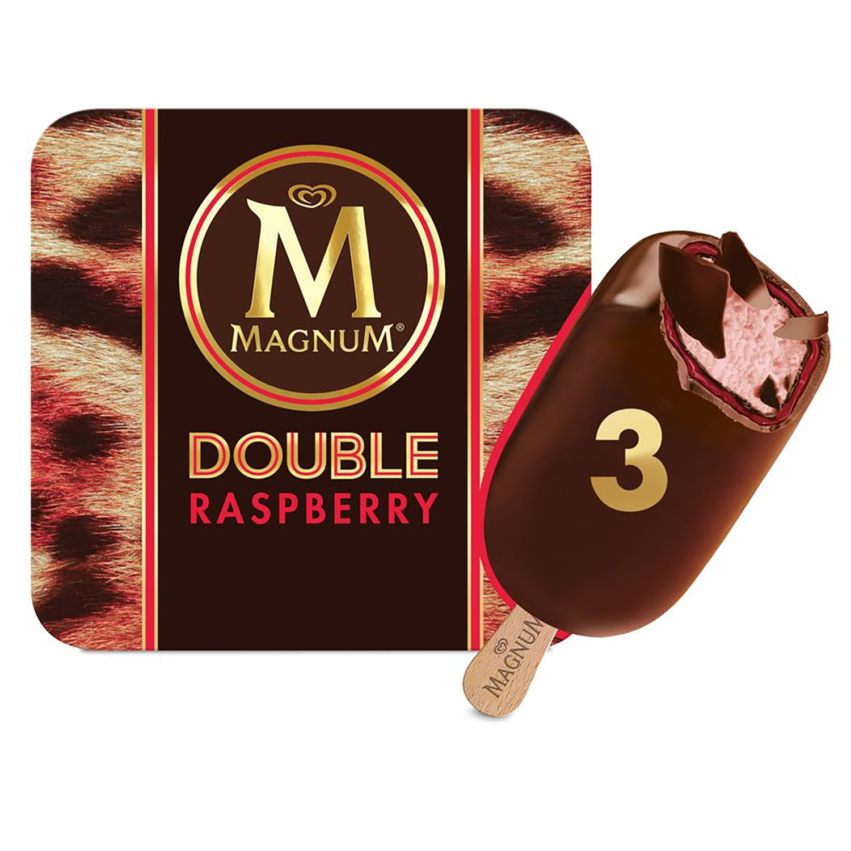 Bombón helado Doble Raspberry Magnum 3 ud. -