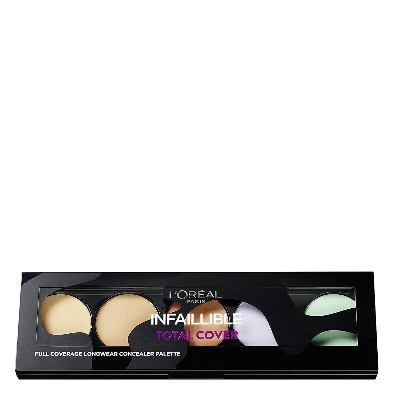 Paleta de corrector e iluminador infalible total cover L'Oréal 1 ud.