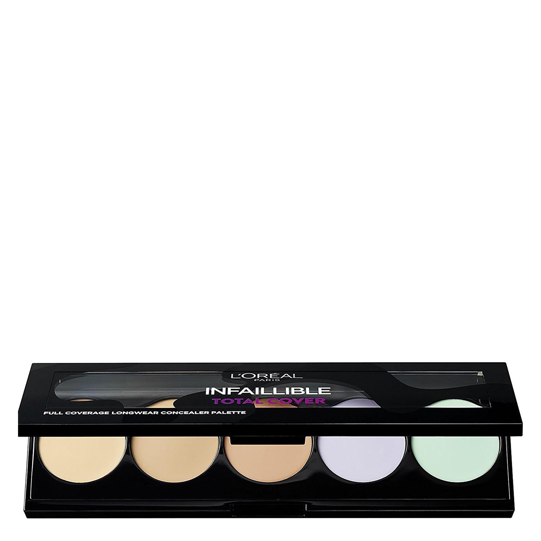Paleta de corrector e iluminador infalible total cover L'Oréal 1 ud. -
