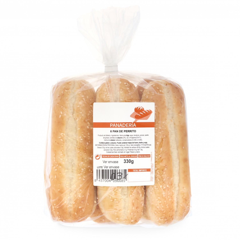 Pan de perrito T. Panadera 6unidades de 55 g