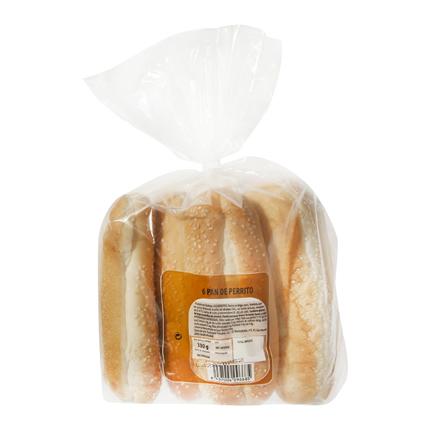 Pan de perrito T. Panadera 6unidades de 55 g -