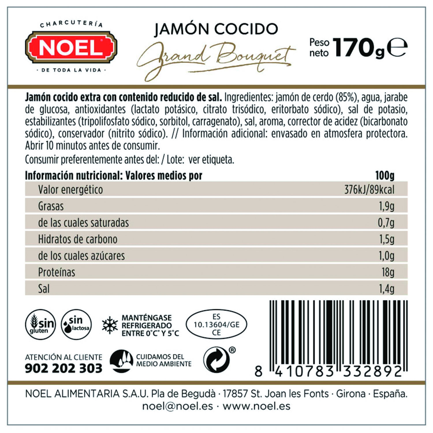 Jamón cocido bajo grasa y sal - 2