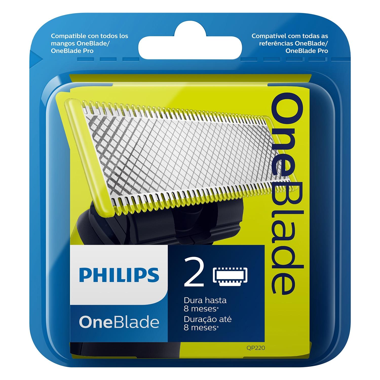 Cargador manual afeitado OneBlade Philips 2 ud.