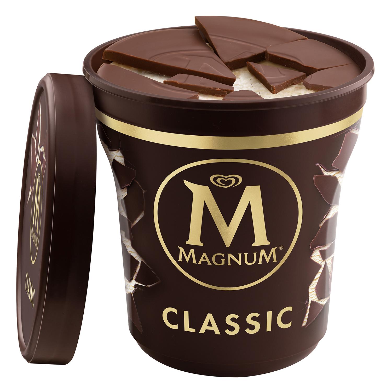 Helado de vainilla Magnum 297 ml.