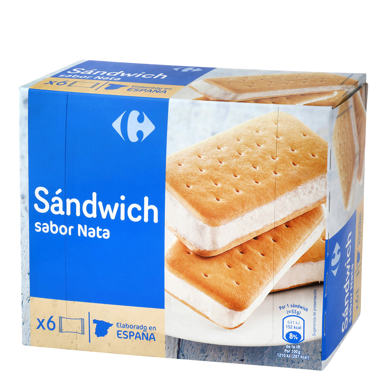 Helado sandwih de nata