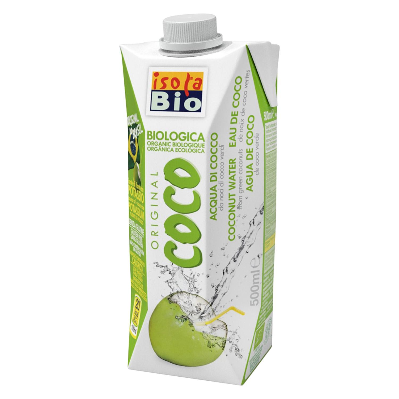 Agua de coco verde ecológica Isola Bio brick 50 cl.