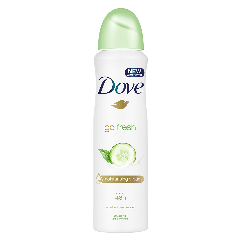 Desodorante spary cucumber anti-transpirante 48h. Dove 250 ml.
