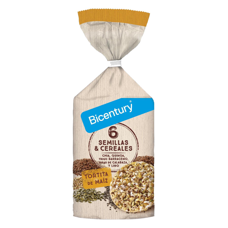 Tortitas de maíz 6 semillas y cereales