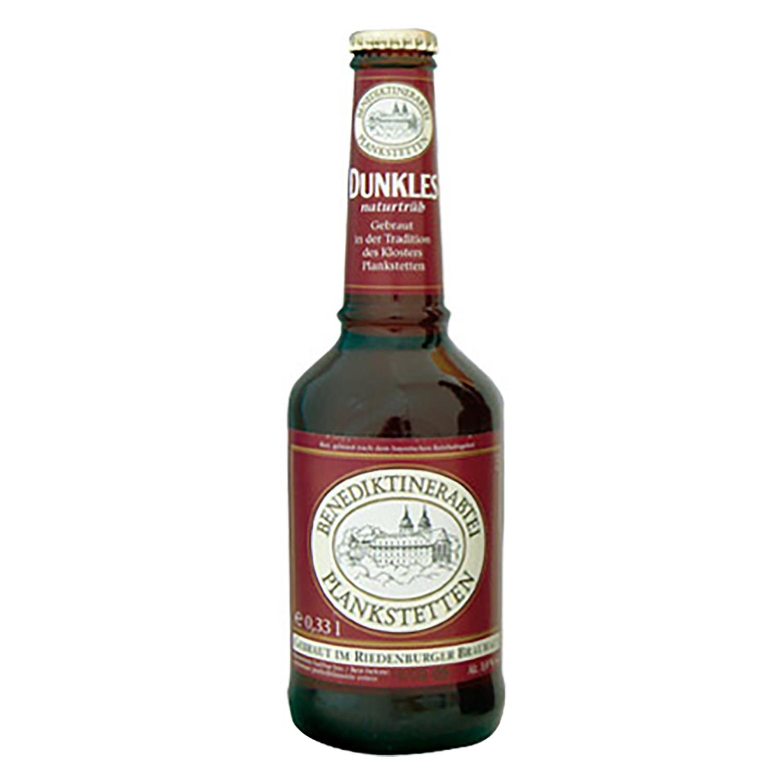 Cerveza ecológica Benediktinerabtei Planketetten negra botella 33 cl.