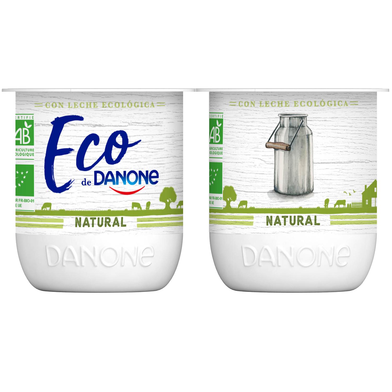 Yogur natural ecológico Danone pack de 4 unidades de 125 g. -