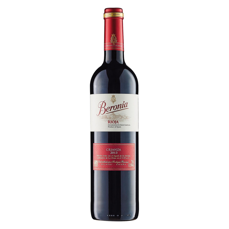 Vino D.O. Rioja tinto crianza Beronia 75 cl.
