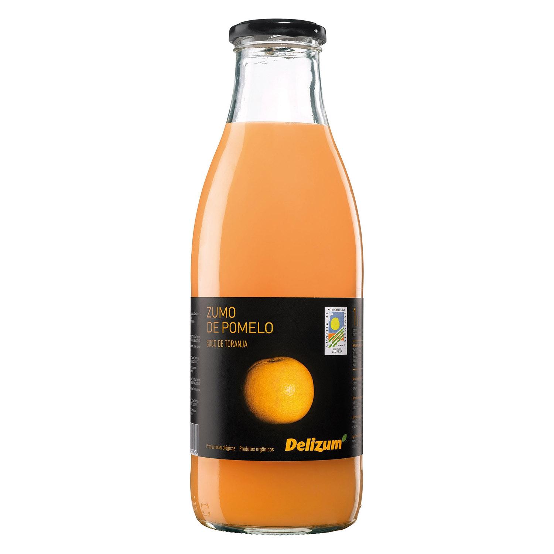 Zumo de pomelo ecológico Delizum botella 1l.
