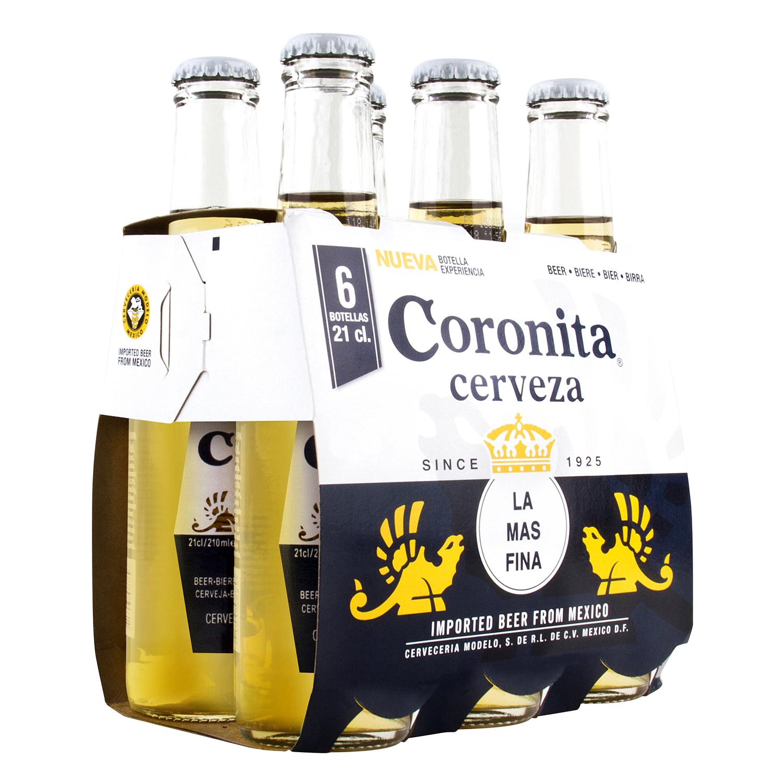 Cerveza Coronita pack de 6 botellas
