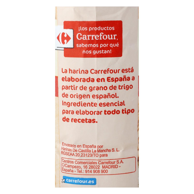 Harina de trigo Carrefour 1 kg. -