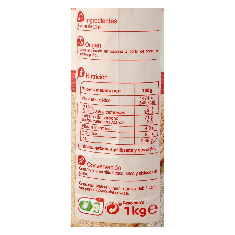 Harina de trigo Carrefour 1 kg. - 3