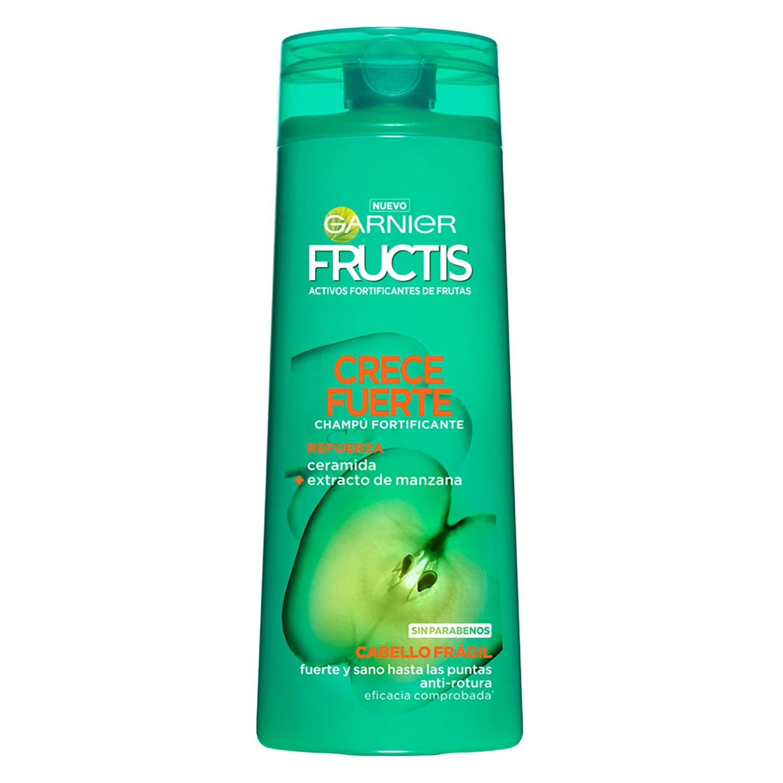Champú fortificante Crece Fuerte para cabello frágil Garnier-Fructis 360 ml.