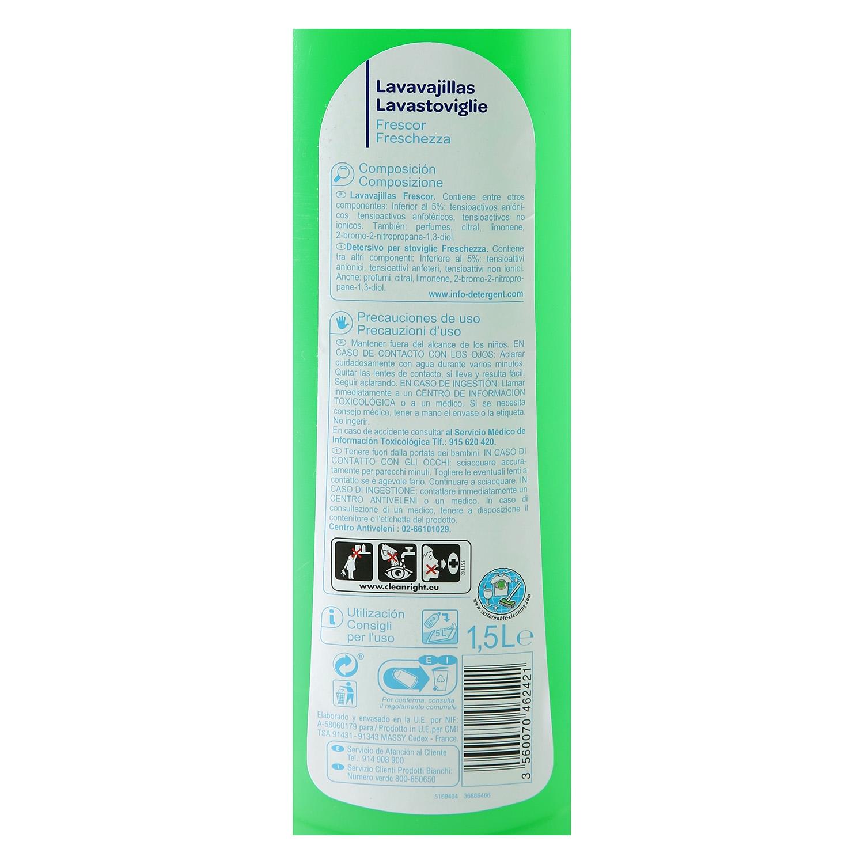 Lavavajillas a mano diluido Producto blanco 1,5 l. -