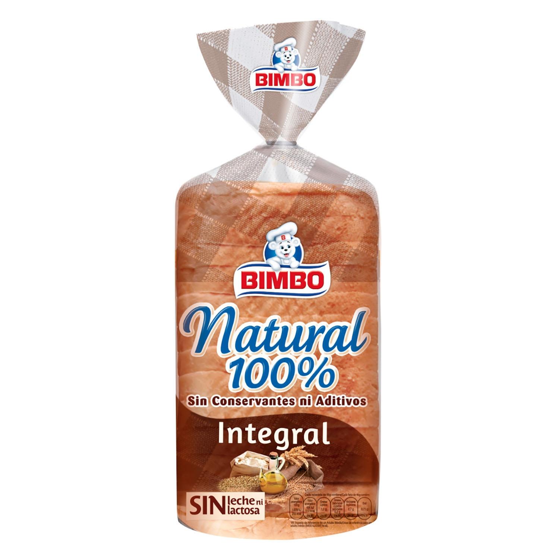 Pan integral natural 100% Bimbo 450 g.