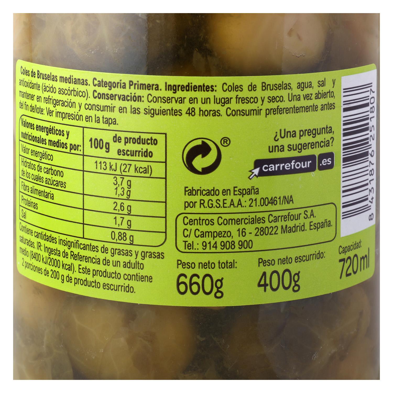 Coles de Bruselas Carrefour 660 g. - 2