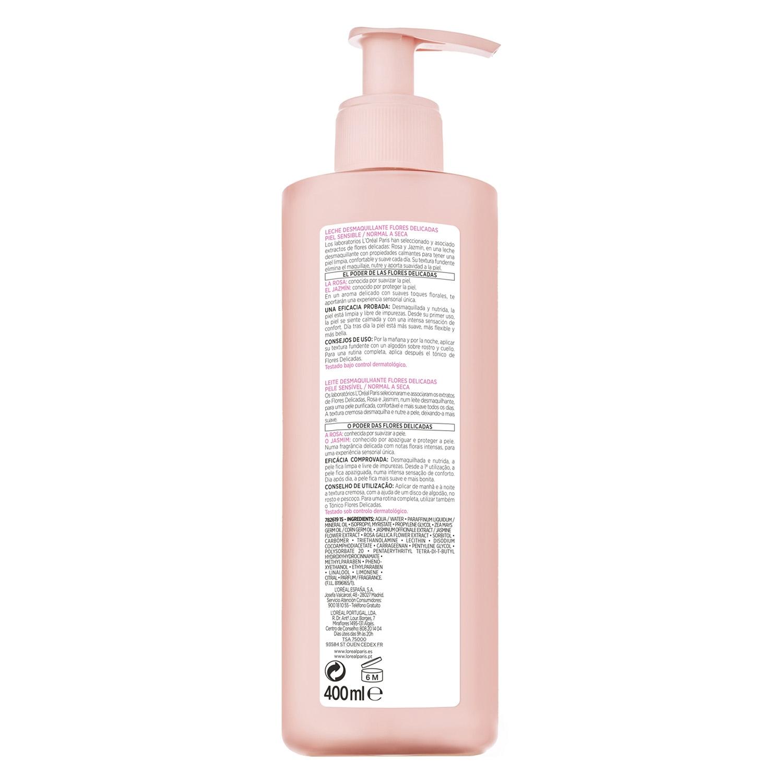 Leche de limpieza Flores Delicadas para piel sensible normal a seca -