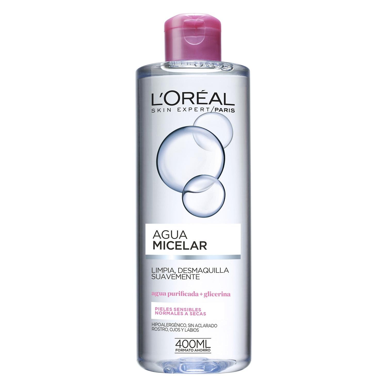 Agua micelar suave para pieles sensibles normales a secas