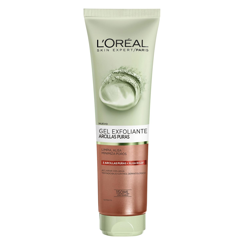 Gel Exfoliante arcillas puras L'Oréal Skin Expert 150 ml.