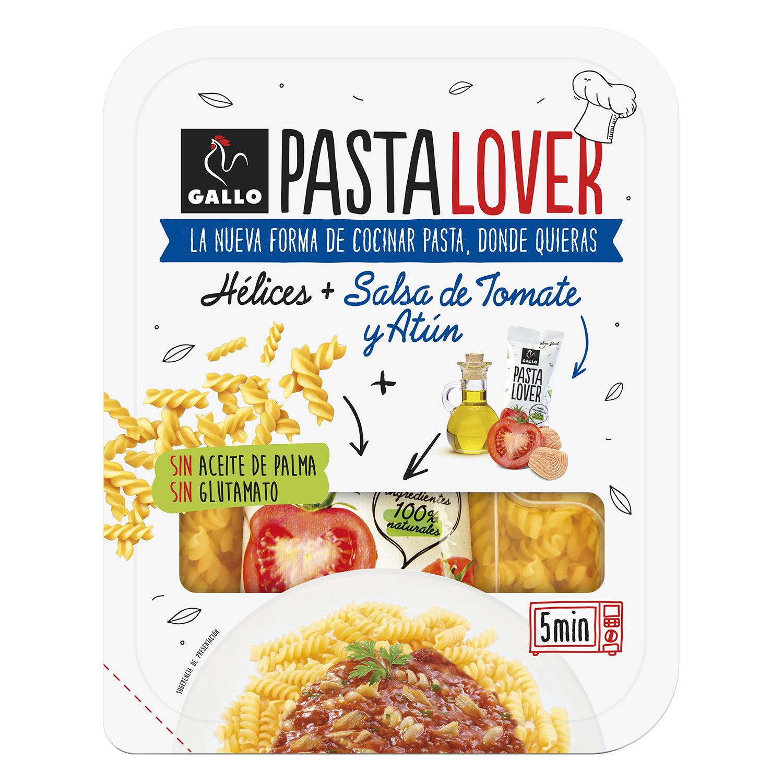 Hélices + salsa de tomate y atún Pasta Lover