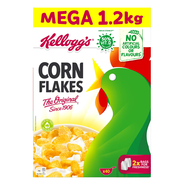 Cereales de maíz Corn Flakes Kellogg's 1,2 kg.
