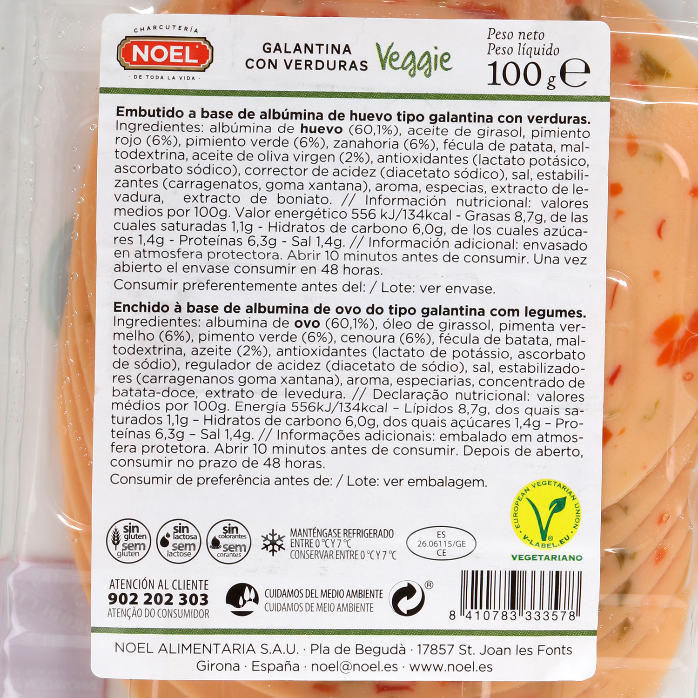 Galantina verduras veggie - 2