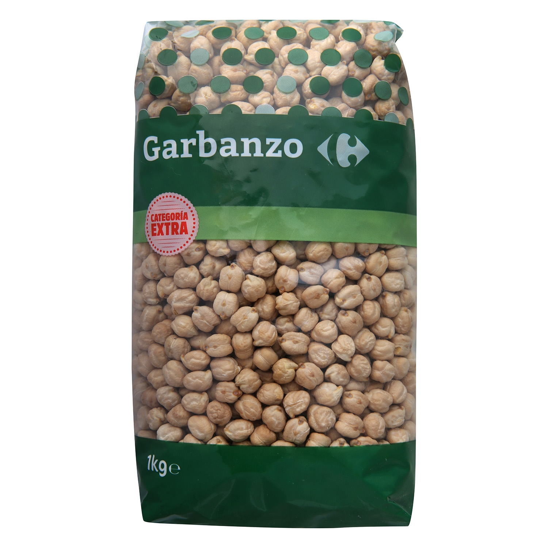 Garbanzo Carrefour categoría extra 1 kg.