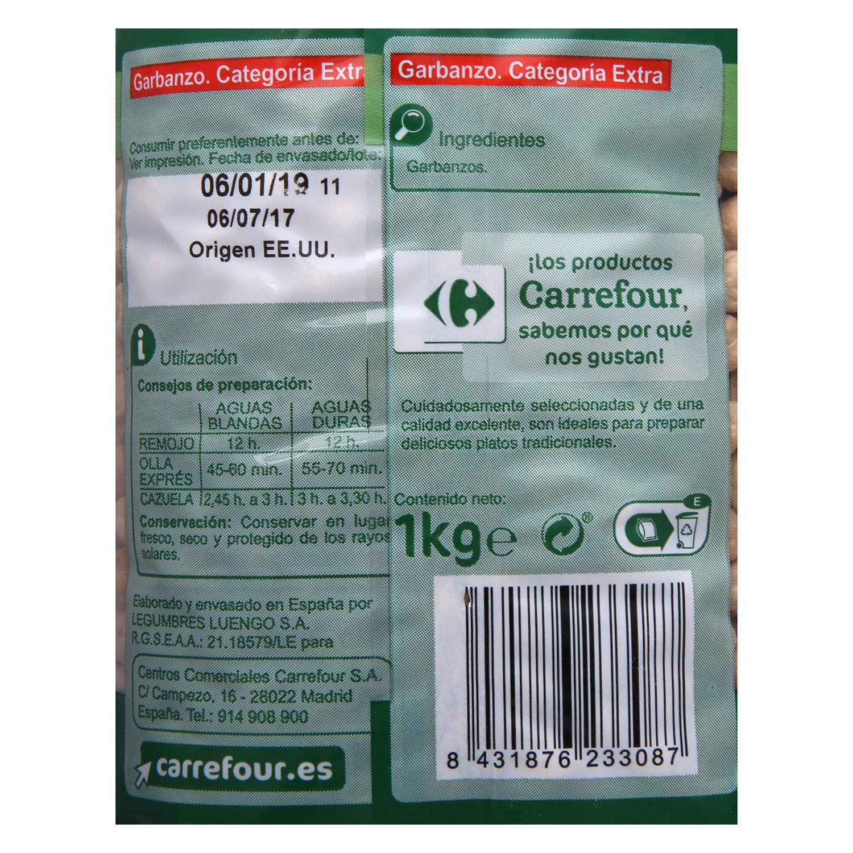 Garbanzo Carrefour categoría extra 1 kg. - 2