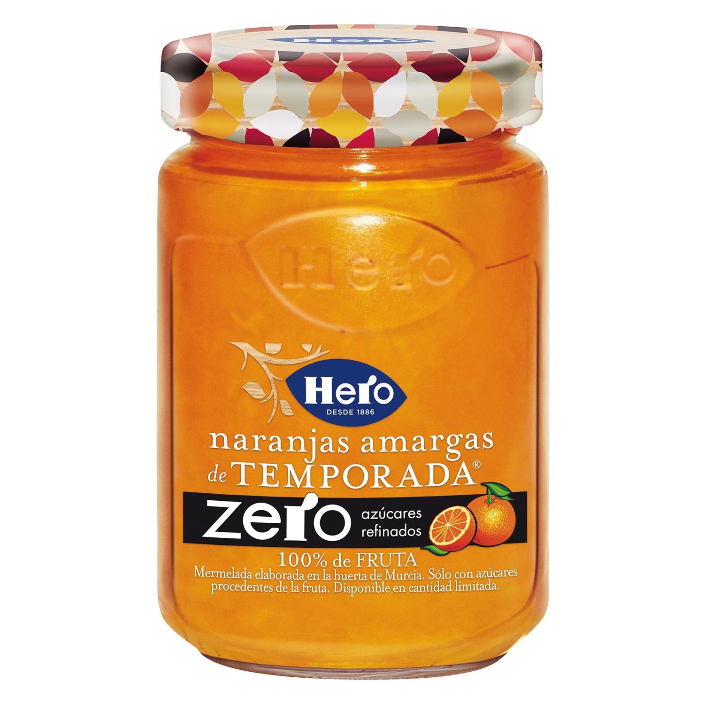 Mermelada de naranja amarga zero azúcares añadidos Hero 285 g.