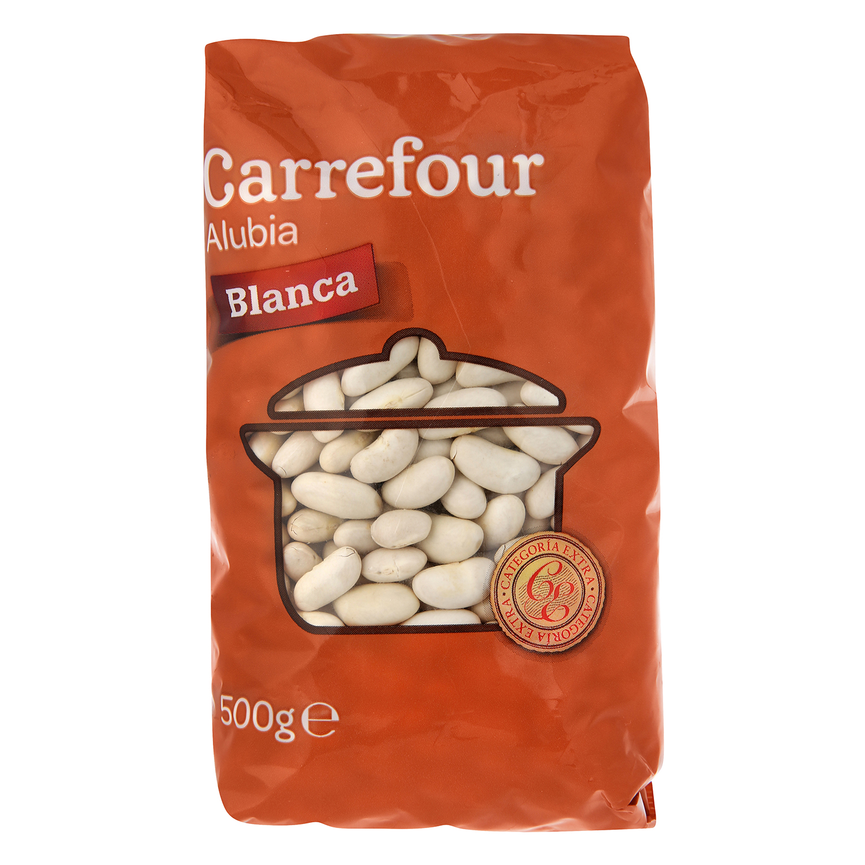 Alubia blanca categoría extra Carrefour 500 g.