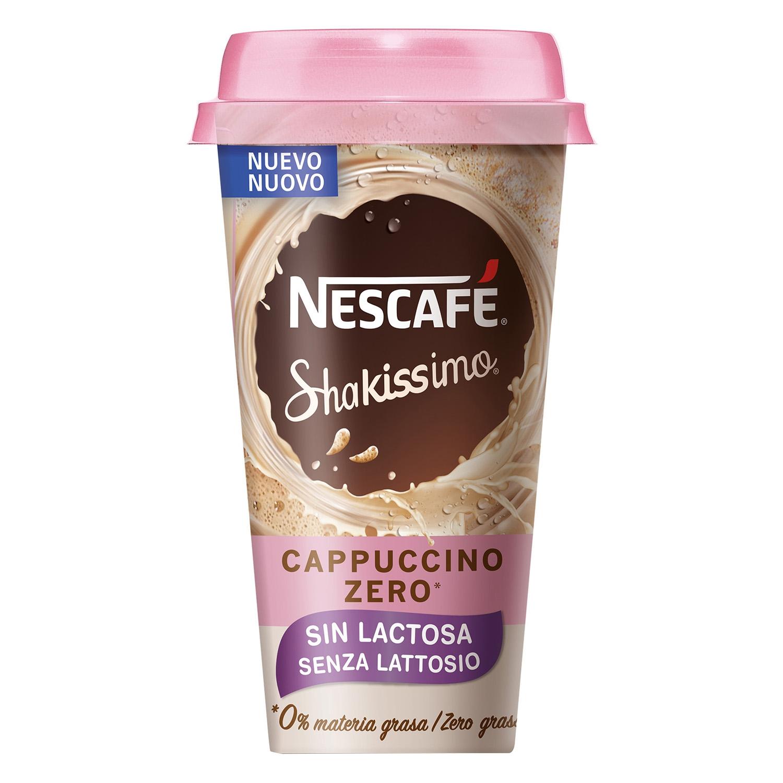 Café cappuccino zero Nescafé Shakissimo sin lactosa 190 ml.