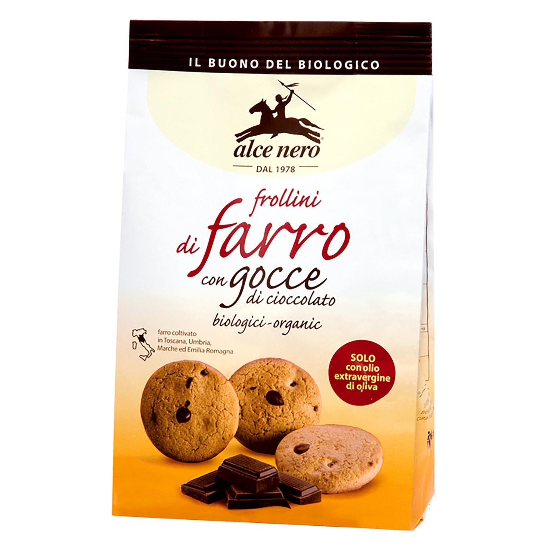 Galletas con pepitas de chocolate ecológicas Alce Nero 300 g.