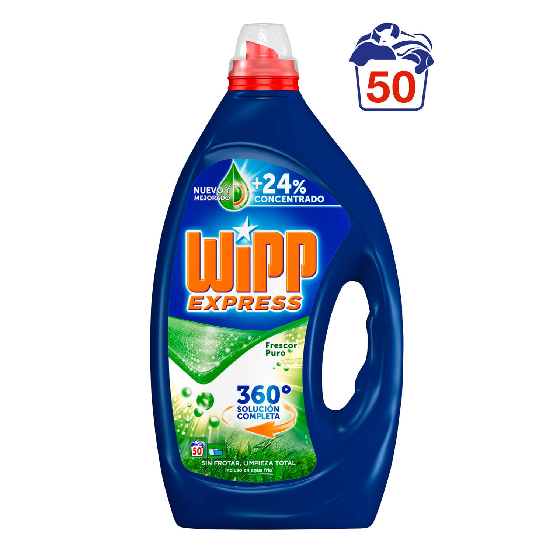 Detergente frescor puro en gel Wipp Express 50 lavados.