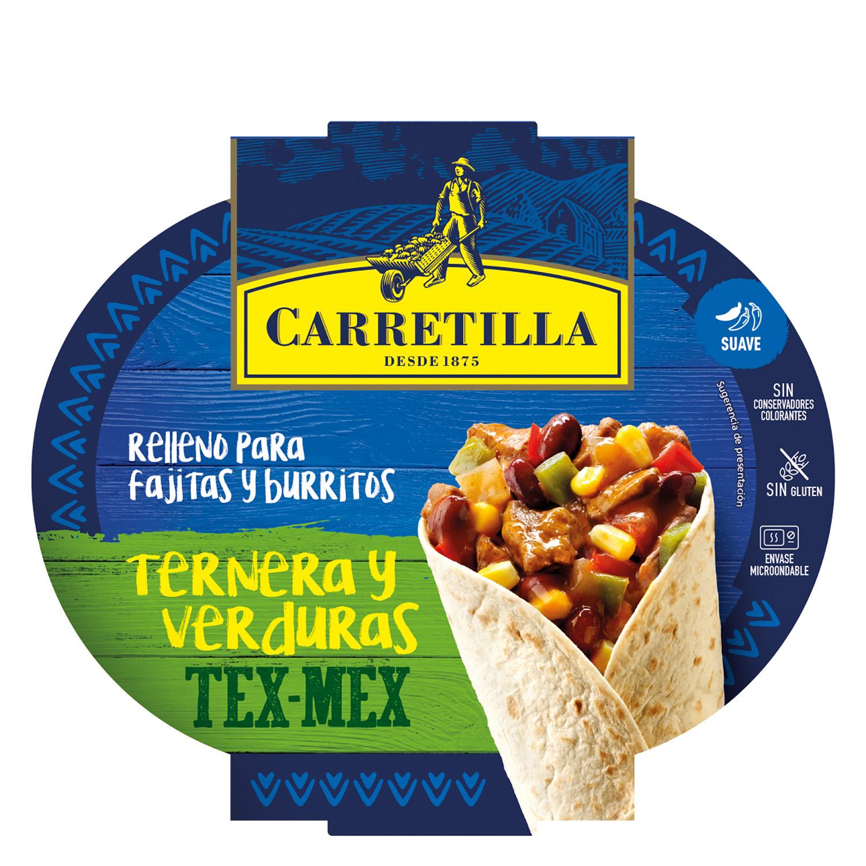 Relleno para burrito y fajitas de ternera y verduras - Relleno nordico carrefour ...