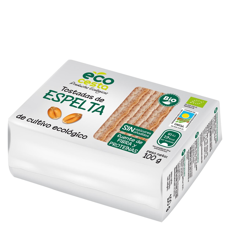 Tostadas de espelta ecológicas Ecocesta 100 g.