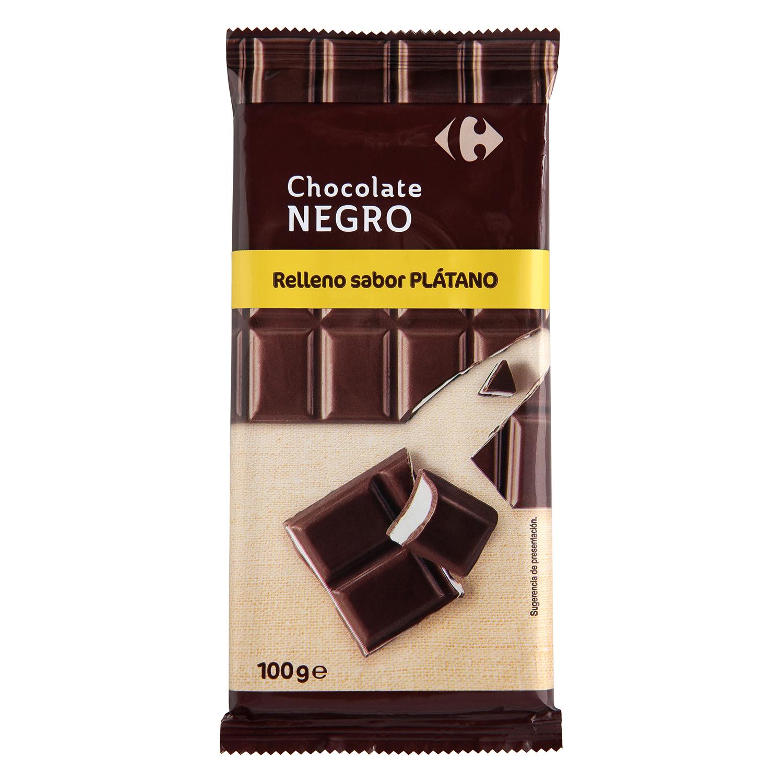 Carrefour Chocolate Negro Plátano Relleno De 100 G 8Nn0wm