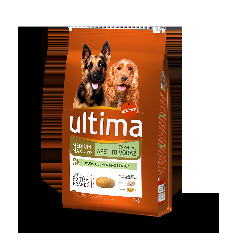 Ultima Pienso para Perro Adulto Medium - Maxi Apetito Voraz Sabor pollo y cebada 7kg.